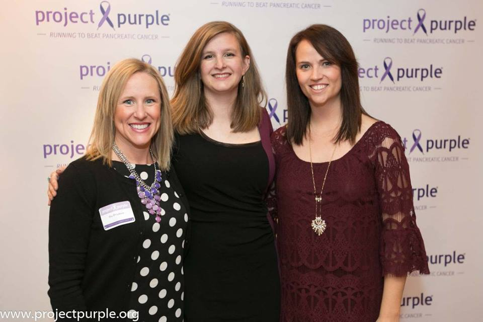 From L to R: Project Purple's Elli Erickson, Elizabeth Mauldin and Chelsey Bunyer